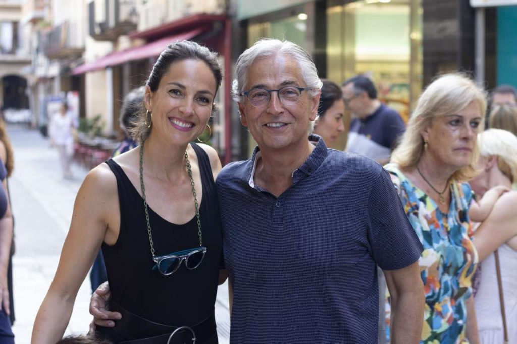 Dentists Carlota and Lluís María Anfruns the opening day at Masri & Anfruns Dental Costa Brava