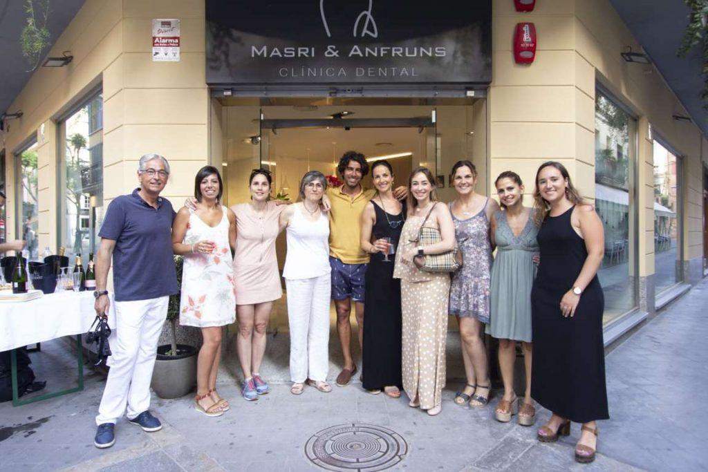 The team on opening day Masri & Anfruns Dental Costa Brava